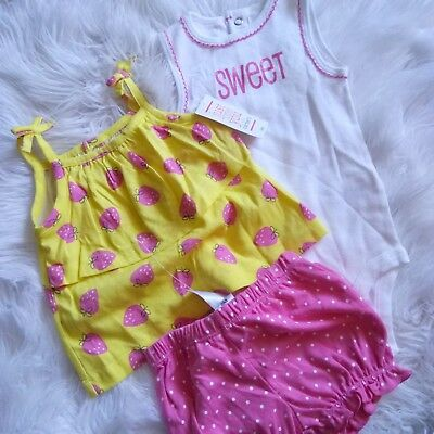 a12fe1a99 New JUST ONE YOU Made By Carter's Baby Girls Tops & Shorts 3 Piece Set,
