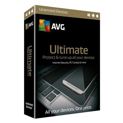 Download AVG 2019 Ultimate Protection 2 Years Unlimited Devices Digital Delivery