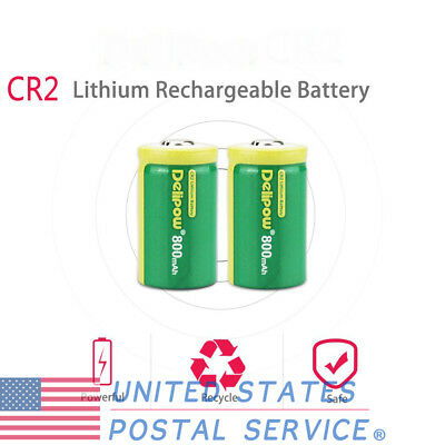 2pcs 3V Rechargeable 800mAh Lithium Battery For Pre-Charged for Golf Rangefinder