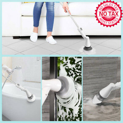 Electric Spin Scrubber Power Brush, Cordless Shower Scrubber With 3 Replaceable