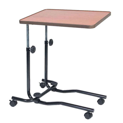 NRS Healthcare M15691 Portable Overbed/Chair Table - Tilting, Adjustable & Wheel