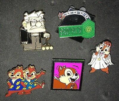 Disney Pins Mixed Lot of 5 Carl Up Chip & Dale Angel Carsland Sarge's Surplus