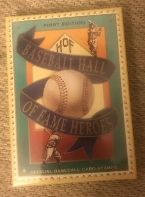 Baseball Hall Of Fame Heroes 1st Edition Official Baseball Card Stamps, Sealed