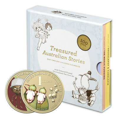 NEW RA Mint Treasured Australian Stories Coloured Coin Set 2pc