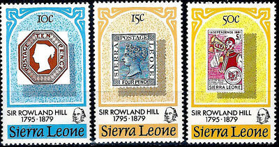 Sierra Leone #459-461, MNH - Stamp-on-Stamp, Sir Rowland Hill - Complete Set