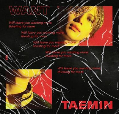 Shinee Taemin - Want, 2Nd Mini Album: Full Package+Poster+Tracking, Sealed
