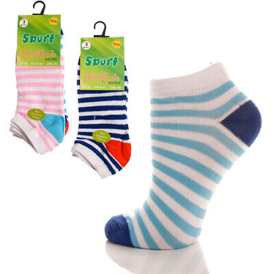 12 Pairs Ladies Trainer Liner Sports Socks Womens Girls Funky Designs MEGA MIX