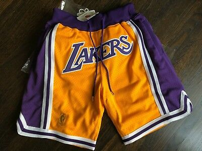 0f841736206 Just Don x Mitchell   Ness Los Angeles Lakers Basketball Shorts size Medium  M