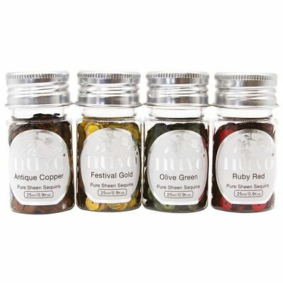 Nuvo by Tonic Studios Pure Sheen Sequins Jingle Bells 25ml | Set of 4