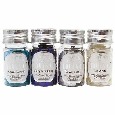 Nuvo by Tonic Studios Pure Sheen Sequins Let It Snow 25ml | Set of 4