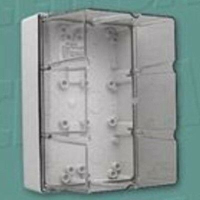 Clipsal INDUSTRIAL ADAPTABLE ENCLOSURE 294x198x184mm 6-Gang With Gear Tray, Grey