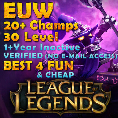 League of Legends LoL EUW Account lol acc | 20+ Champs | NO EMAIL ACCESS | Smurf