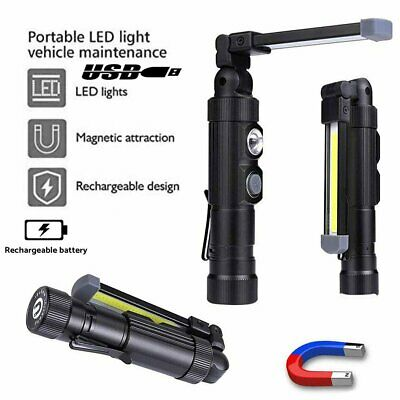 Rechargeable COB light Magnetic Torch Inspection Cordless Worklight LED Magnet w