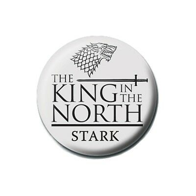 Genuine Game of Thrones King in the North Button Badge Pin Badge TV HBO Jon Snow