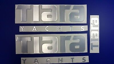 """TIARA yachts boat Emblem 18"""" chrome + FREE FAST delivery DHL express"""