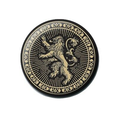Genuine Game of Thrones Lannister House Sigil Button Badge Pin Badge TV HBO Lion