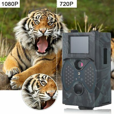 HC300M Hunting Trail Camera Video Scouting Infrared Game HD 12MP MMS GPRS#