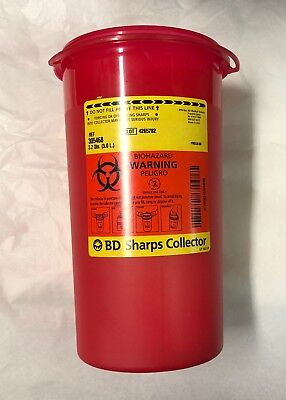 ** Sharps Collector/Container 3.2 Quart With Lid By Bd - New #305468 **