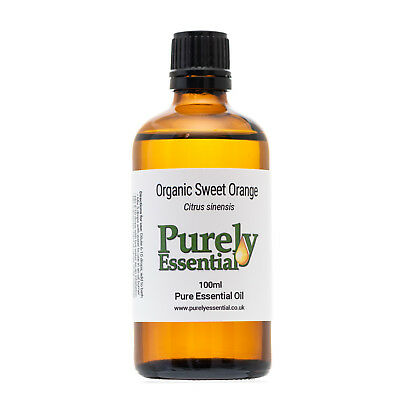 Organic Sweet Orange Essential Oil 10ml 50ml 100ml 100% Pure & Natural, Purely