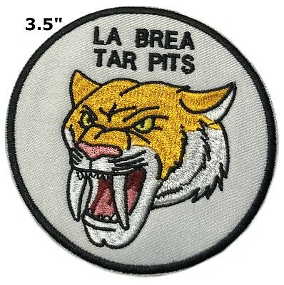 Ice Age Series LA BREA TAR PITS Fossils Extinct Embroidered Patch Iron / Sew-on