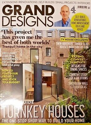 Grand Designs magazine MARCH 2019 # 181 = GUIDE TO TURKEY HOUSES = TV HOUSE EXCL