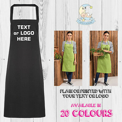 Printed Apron Personalised Custom Baking Cooking Crafts Chef Business Logo Text