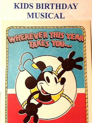 DISNEY Mickey Mouse BIRTHDAY Card For CHILD Sound