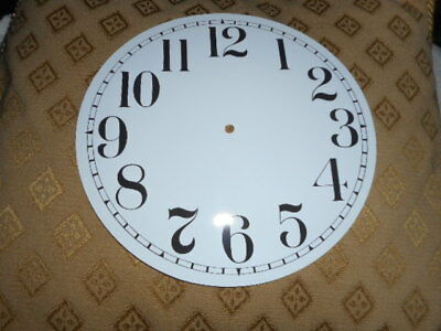"Round Paper Clock Dial - 6 1/2"" M/T - Arabic - GLOSS WHITE  - Face/ Parts/Spares"