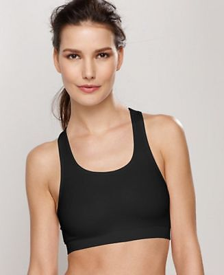 1330292305 Wacoal Low-Impact Seamless Wireless Sports Bra Black Size Small S NEW  45