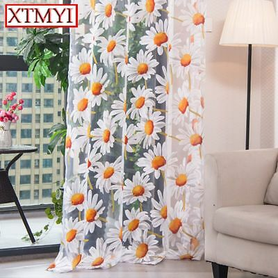 Window Kitchen Curtains Tulle Living Room Curtain Bedroom Drape Modern