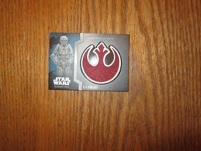 "Star Wars Rogue One: Mission Briefing 2016 (Patch Card's ""Single's"")!!!"