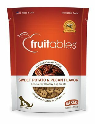 Fruitables Crunchy Sweet Potato and Pecan Biscuit Training Treat for Dogs 5/20