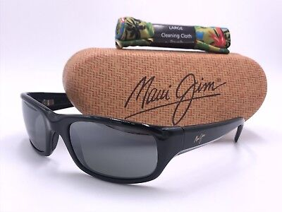 81b4855514 MAUI JIM MJ103-02 STINGRAY Black  Neutral gray POLARIZED lens AUTHENTIC  ITALY