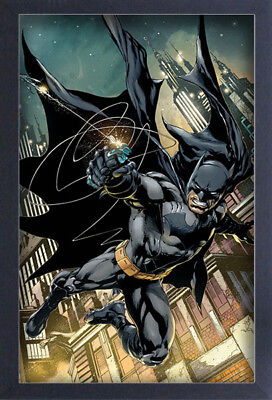 BATMAN GRAPPLING GUN GOTHAM CITY 13x19 FRAMED GELCOAT DC COMICS BRUCE WAYNE GIFT