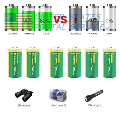 6pcs Lots 3v 800mAh CR2 Rechargeable Lithium Battery For Laser Golf New