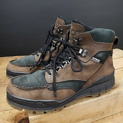 good texture popular brand on feet shots of MENS ECCO TRACK II High Boot Brown Black Leather Gore-tex EU ...