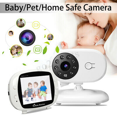 3.5'' LCD Digital Baby Monitor Audio Wireless Video Camera Night Vision Safety !