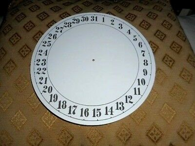 "Round Paper Clock Date Dial - 7 1/2"" M/T- Arabic - MATT WHITE -Face/Parts/Spares"