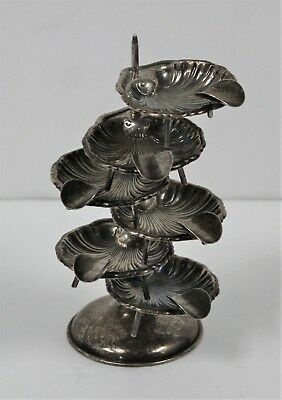 Plat Mex Rare Vintage Stacking Ashtray Smoking Set  Of 6 Sterling Silver .925