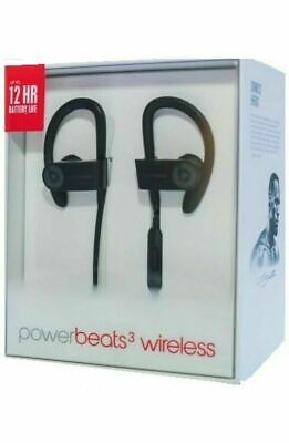 NEW Beats by Dr. Dre Powerbeats 3 Wireless In Ear Headphones Authentic, Black