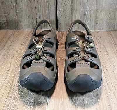 8fa67a418122 Crocs TRAILBREAK Hiking Sport Sandals Bungee Lace Rubber Soles M12