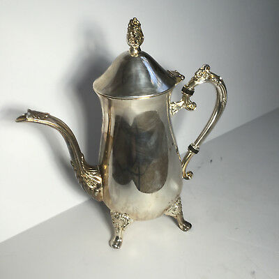 Vintage 1991 (International Silver Co.) Silver Plate Large Footed Water Pitcher
