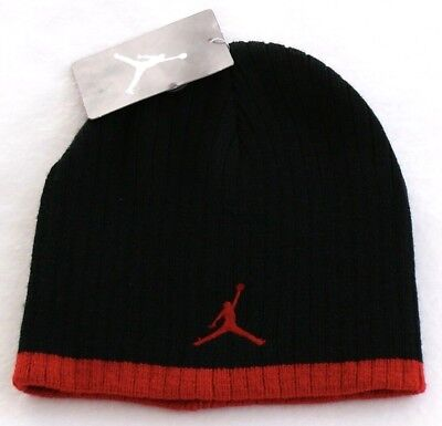 3930b24fab9 Nike Jordan Jumpman Black   Red Knit Beanie Skull Cap Youth Boy s ...