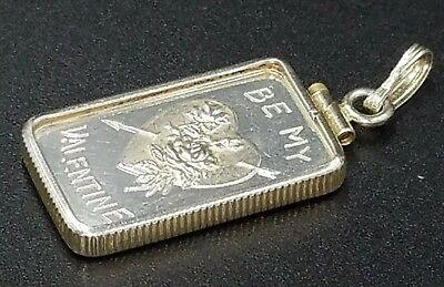 Dahlonega Mint 5 Gram .999 Silver Bar BE MY VALENTINE Annual Ingot Heart Charm
