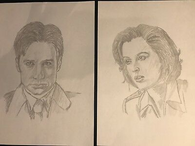 Mulder And Scully X Files Pencil Sketches MattmanArt