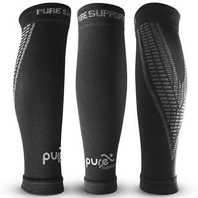 Pure Support Compression Calf Brace Shin Splint Premium Quality Sleeve Socks Pro