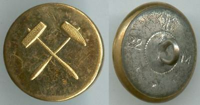 Knopf Bergbau Weimarer Republik um 1930 Uniform button bottone 22mm Gelb