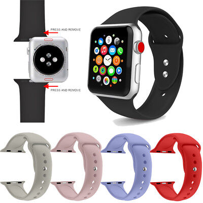 Silicone Wrist Band Strap Bracelet For iWatch Apple Watch Series 1/2/3/4 38/42mm