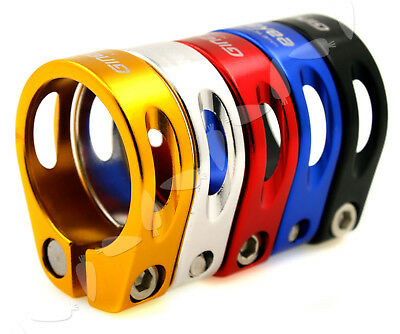 5 Colors Seat Clamp Aluminum 31.8-34.9mm For Cycle Mountain Bike Road Cycling