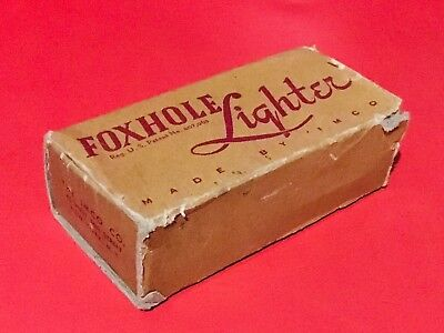 Vintage 1940's WWII Imco Foxhole Trench Lighter W/ Box & 2 Spare Wicks